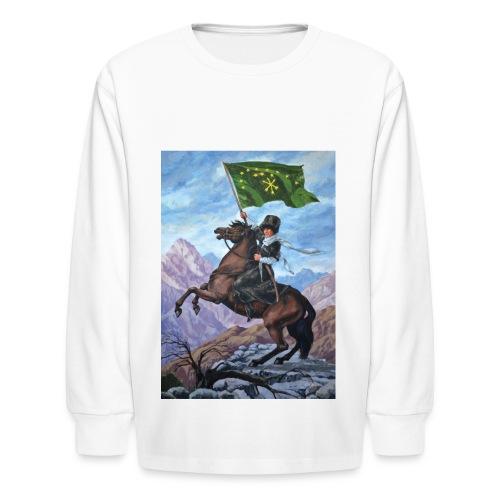 Circassian flag - Kids' Long Sleeve T-Shirt