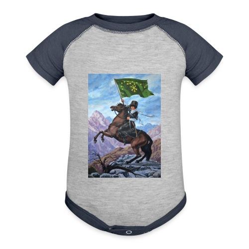 Circassian flag - Contrast Baby Bodysuit