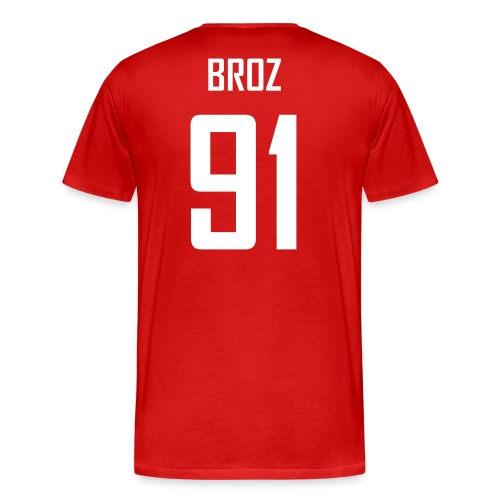 Ludek Broz #91 Jersey Shirt - Men's Premium T-Shirt