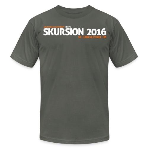 Snow Skursion T-Design - Gray - Men's Fine Jersey T-Shirt