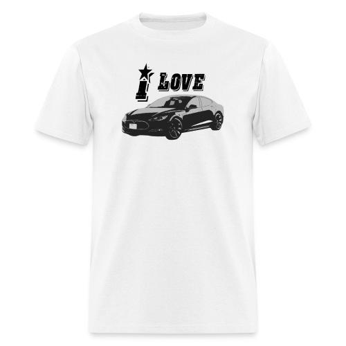 I love Tesla Model S - Men's T-Shirt