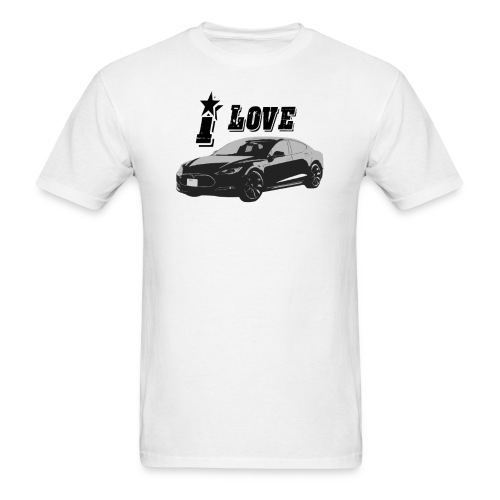 I love Tesla Model S - Men's T-Shirt