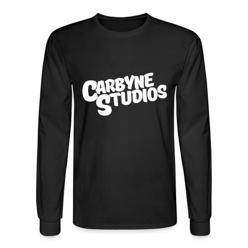 Carbyne Casual Long Sleeve White Shirt - Men's Long Sleeve T-Shirt