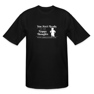 Black Nappy Thoughts Tee - Men's Tall T-Shirt