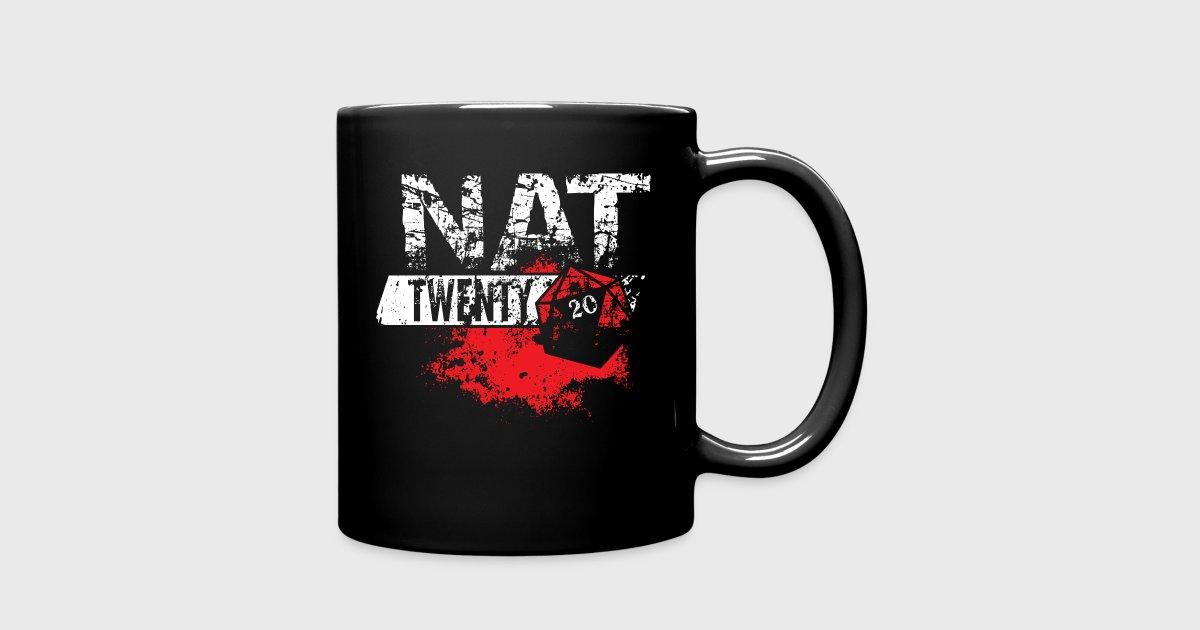 Natural 20 | Dungeons & Dragons NAT TWENTY RPG - Full Color Mug