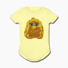 Cute Yellow Yeti Bigfoot Baby Bodysuits