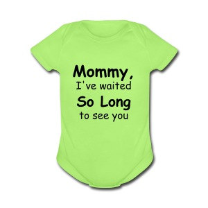 mom can you please not sniff my butt when my friends are looking? - Short Sleeve Baby Bodysuit