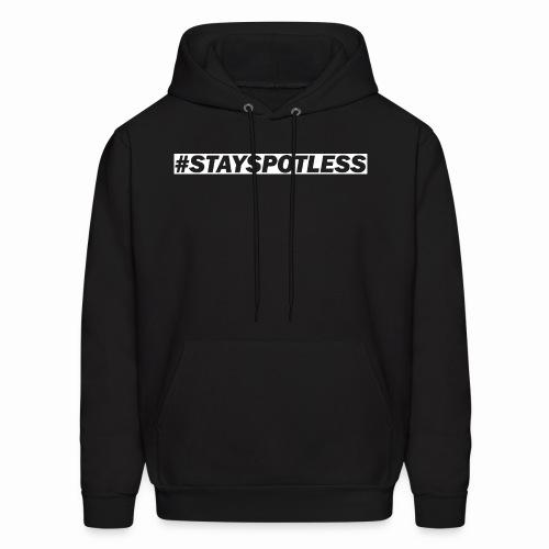 #StaySpotless White Design Light Hoodie [Men] - Men's Hoodie
