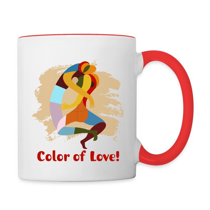 color of love ceramic coffee mug mug spreadshirt. Black Bedroom Furniture Sets. Home Design Ideas