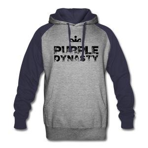 Purple Dynasty 2-Color Hoodie - Colorblock Hoodie