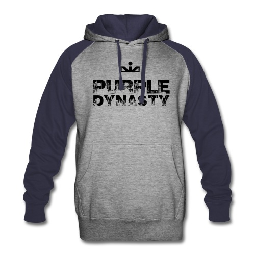 Purple Dynasty 2-Color Hoodie - Colorblock Hoodie