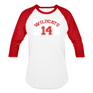 T-Shirts ~ Baseball T-Shirt ~ MUSICAL WILDCATS - HIGH SCHOOL COSTUME Red Sleeves Shirt