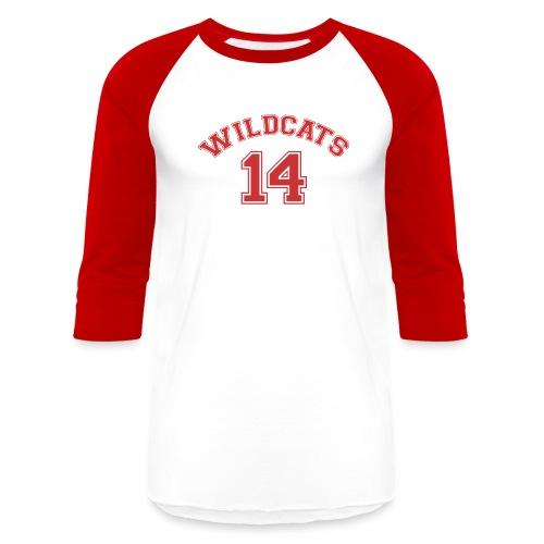 MUSICAL WILDCATS - HIGH SCHOOL COSTUME Red Sleeves Shirt - Baseball T-Shirt