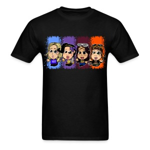 Four Chibi Women (Male) - Men's T-Shirt