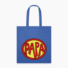 Super, Hero, Heroine, Super Papa Bags & backpacks