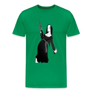 Sister Ivana Nun with Gun - Men's Premium T-Shirt