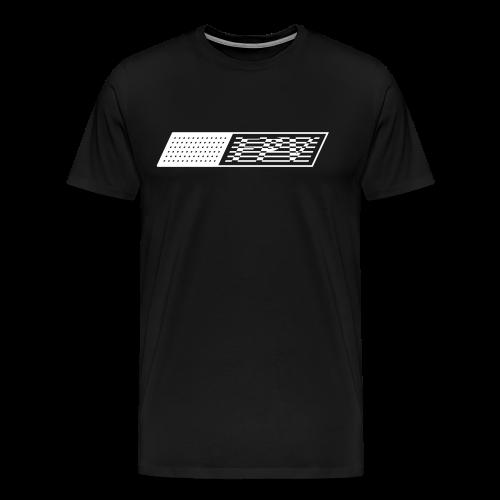 FPV Flag (white) - Men's Premium T-Shirt