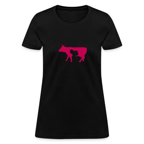 Women's Relaxed Fit T-Shirt (Red Spot Cow) - Women's T-Shirt