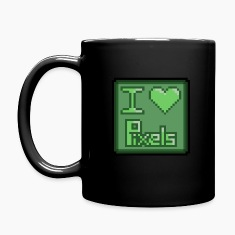 I love pixels Mugs & Drinkware