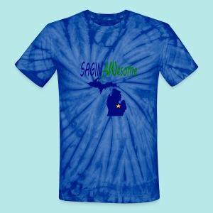 Unisex Groovy Saginawesome - Unisex Tie Dye T-Shirt