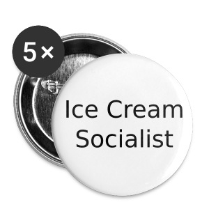Ice Cream Socialist Button 5-pack - Small Buttons