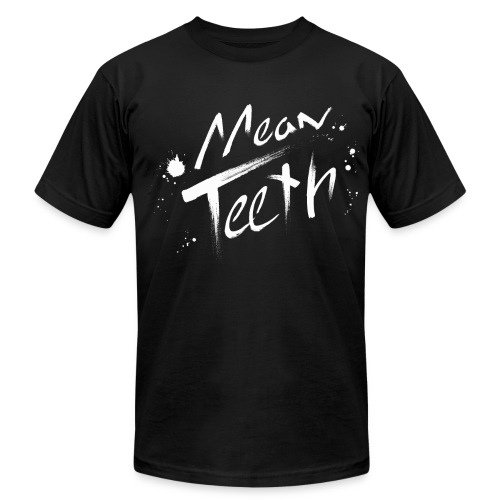 BLACK MEAN TEETH T-SHIRT [MALE SIZES] - Men's Fine Jersey T-Shirt