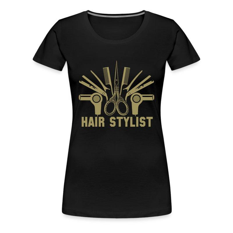Hair stylist hair stylist sayings design hair s t shirt for Hair salon t shirt designs