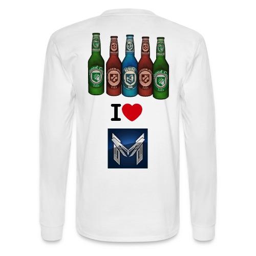 I HEART MJAYY SHIRT - WHITE - Men's Long Sleeve T-Shirt