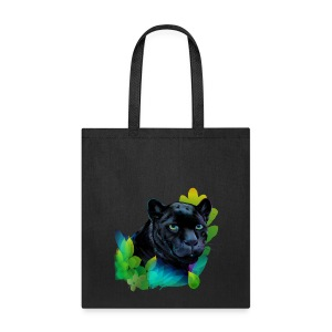 Black Panther and Blended Jungle - Tote Bag