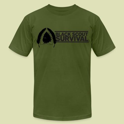 Black Scout Banner Shirt - Men's Fine Jersey T-Shirt