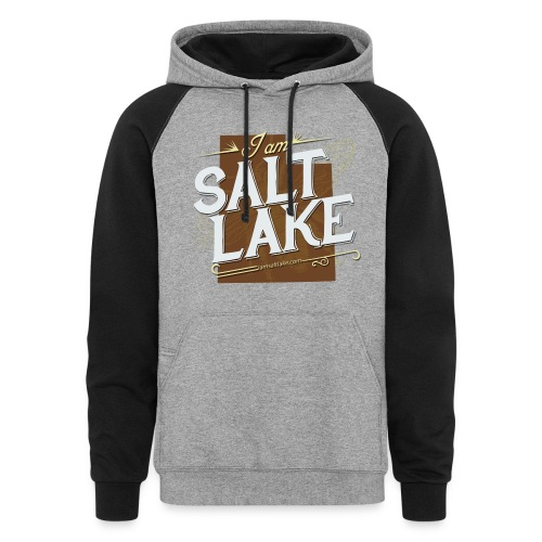 I am Salt Lake Hoodie - Colorblock Hoodie