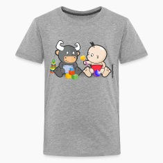 Baby and Bull Friends Forever
