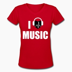 I love music dj HEADPHONE Women's T-Shirts