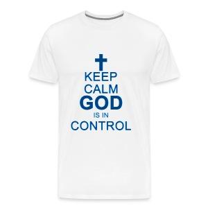 Keep Calm Mens Tee Dark Blue - Men's Premium T-Shirt