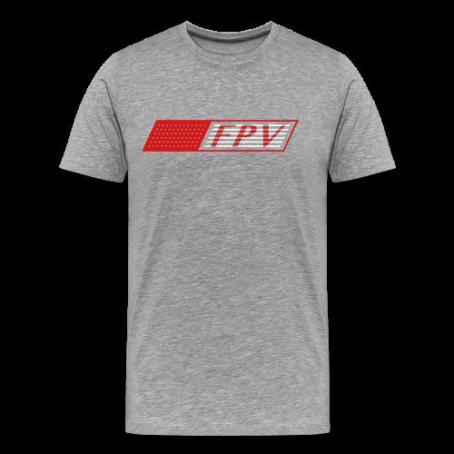 FPV Flag (red, white) - Men's Premium T-Shirt