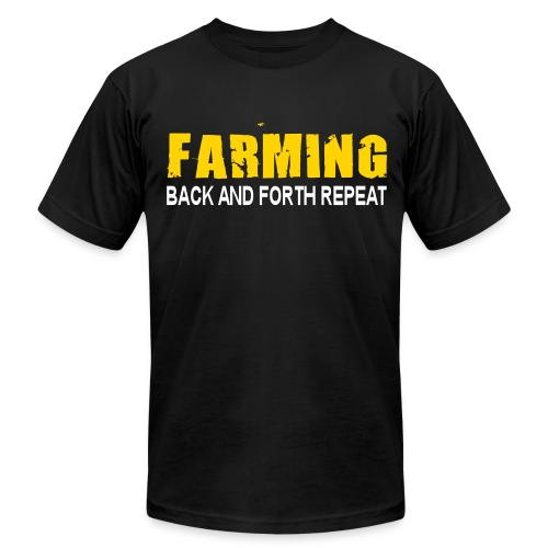 Farming - Back And Forth Repeat - Mens T-Shirt - Men's Fine Jersey T-Shirt