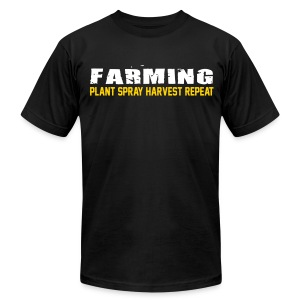 Farming - Plant Spray Harvest Repeat - Mens T-Shirt - Men's T-Shirt by American Apparel