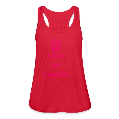 I Run for Cupcakes - Women's Flowy Tank Top by Bella