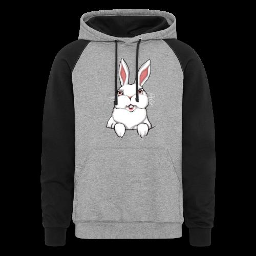 Easter Bunny Hoodie Bunny Rabbit Hooded Sweatshirt - Colorblock Hoodie