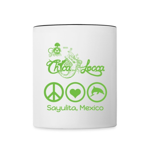 Peace, Love & Dolphins - Coffee Mug - Contrast Coffee Mug