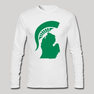 The State of Michigan - Men's Long Sleeve T-Shirt by Next Level