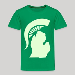 The State of Michigan (Glow in the dark) - Toddler Premium T-Shirt