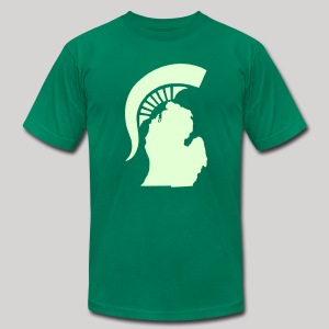 The State of Michigan (Glow in the dark) - Men's T-Shirt by American Apparel