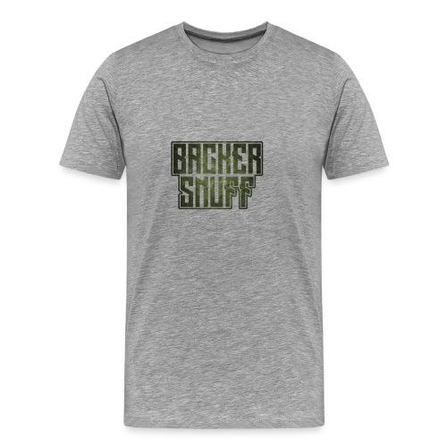 BackerSnuff Camo Logo  - Men's Premium T-Shirt