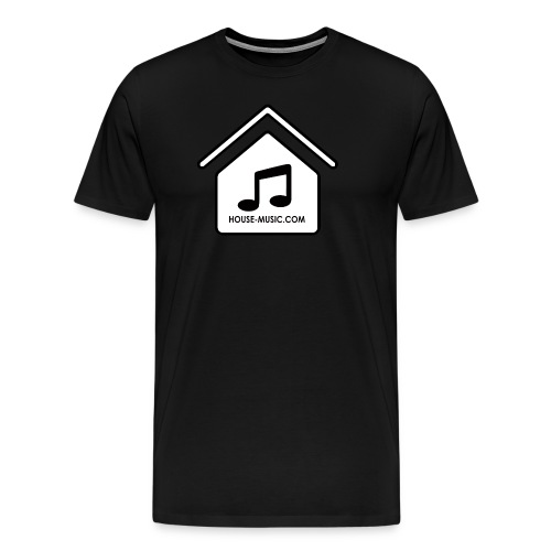 House-Music dot com white logo Men's Premium T-shirt - Men's Premium T-Shirt