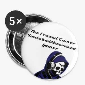 The Crazed Gamer Pin - Large Buttons