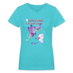 FIBROMYALGIA AWARENESS - Women's V-Neck T-Shirt