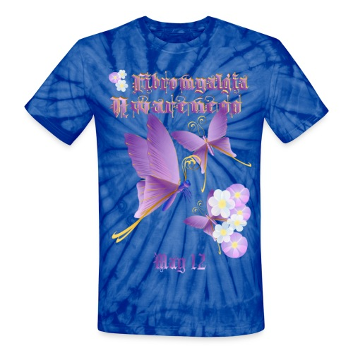 FIBROMYALGIA AWARENESS - Unisex Tie Dye T-Shirt