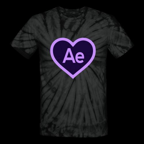 After Effects Love Tie-Dye - Unisex Tie Dye T-Shirt