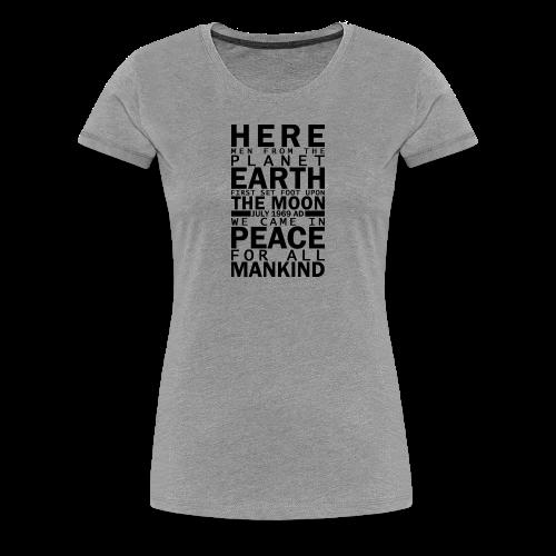 Apollo 11 Plaque WOMEN - Women's Premium T-Shirt